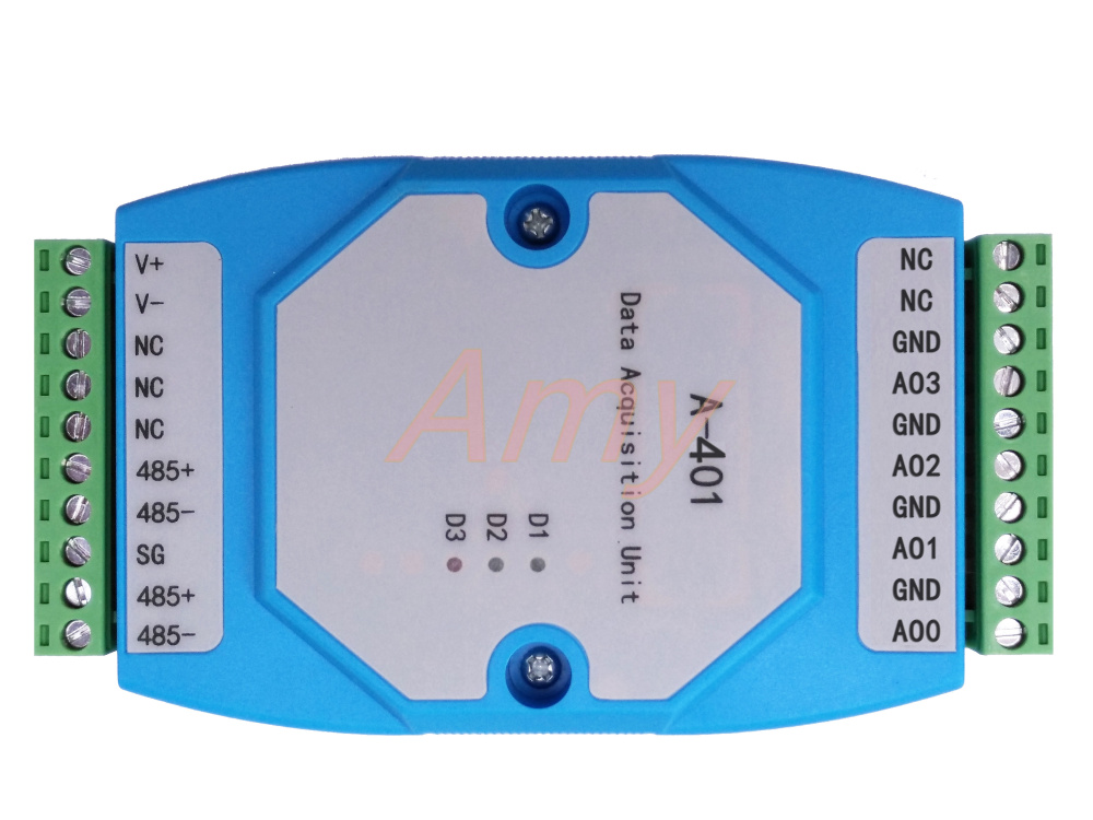 A-401 4 way RS485 voltage and current analog output module intelligent monitor remote control terminalA-401 4 way RS485 voltage and current analog output module intelligent monitor remote control terminal