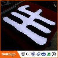 Aliexpress производителя, сетчатый нержавеющая сталь свет письма знак для магазина