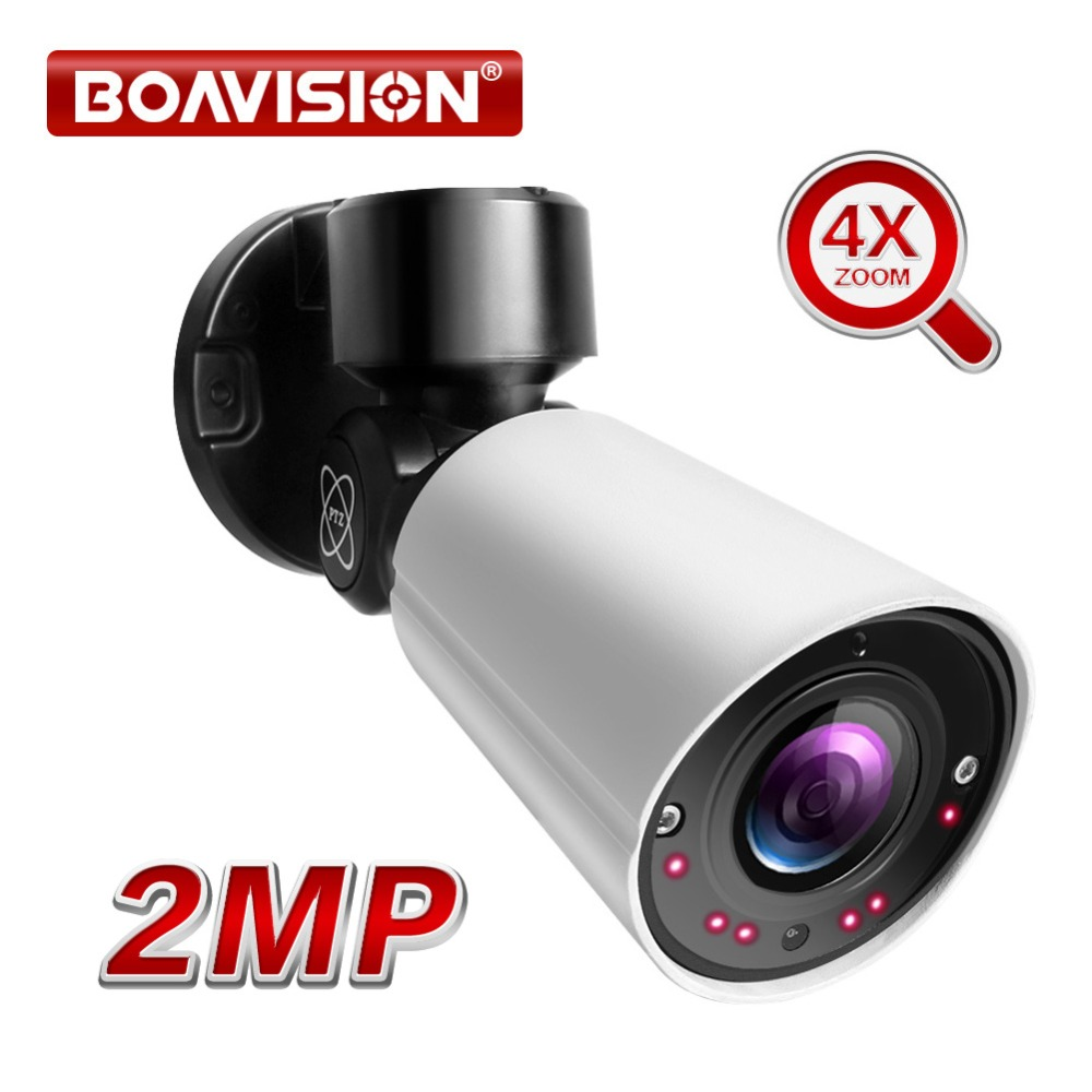 2MP 1080P Mini PTZ IP Camera Outdoor 4X Optical ZOOM Network PTZ Bullet Cameras IR Night Vision 50M CCTV Security Camera 48V POE2MP 1080P Mini PTZ IP Camera Outdoor 4X Optical ZOOM Network PTZ Bullet Cameras IR Night Vision 50M CCTV Security Camera 48V POE