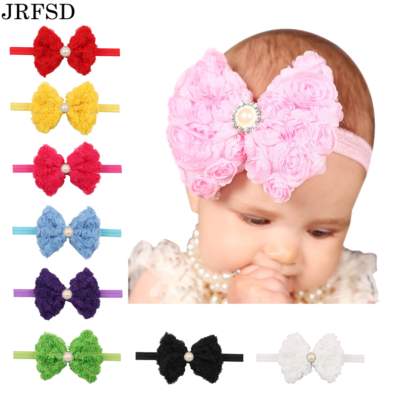JRFSD Bow knot Headband Girls Flower Headwear Hair Accessories  2016 New Fashion Style Hot Sell TH-27  twdvs flower girls bow knot headband girls flower head bands hair accessories 2017 hair bands style hot sell headwearw077