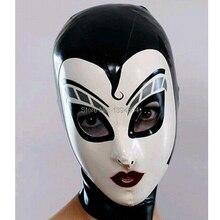 New women female Handmade drama Customized Latex Cosplay maid Hoods spliced nurse Fetish Mask Heroine mask Headgear