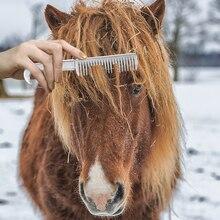 Профессиональный Алюминий сплав гребень для лошади инструмент Снаряжение для лошадей средства по уходу за грива хвост потянув гребень конского Уход за лошадьми инструмент