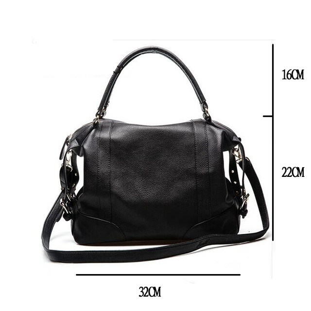2017 new women bag European and American wind soft pure color leather handbag women messenger bags