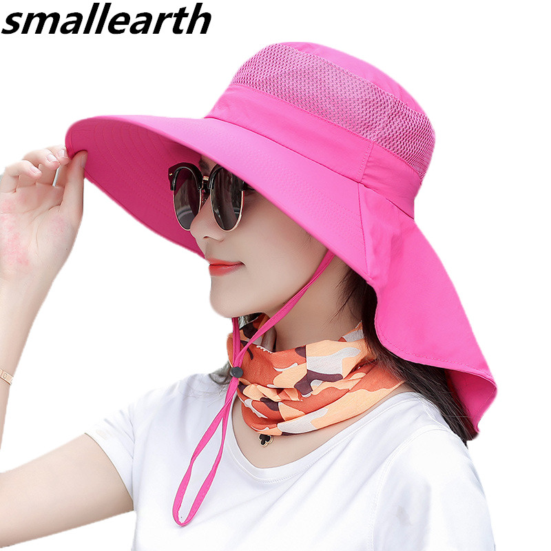 Anti-UV Foldable Breathable Summer Sun Hat For Women Men Wide Brim Beach Fisherman Hat Fishing Hats Outdoor Quick-drying Sea Cap