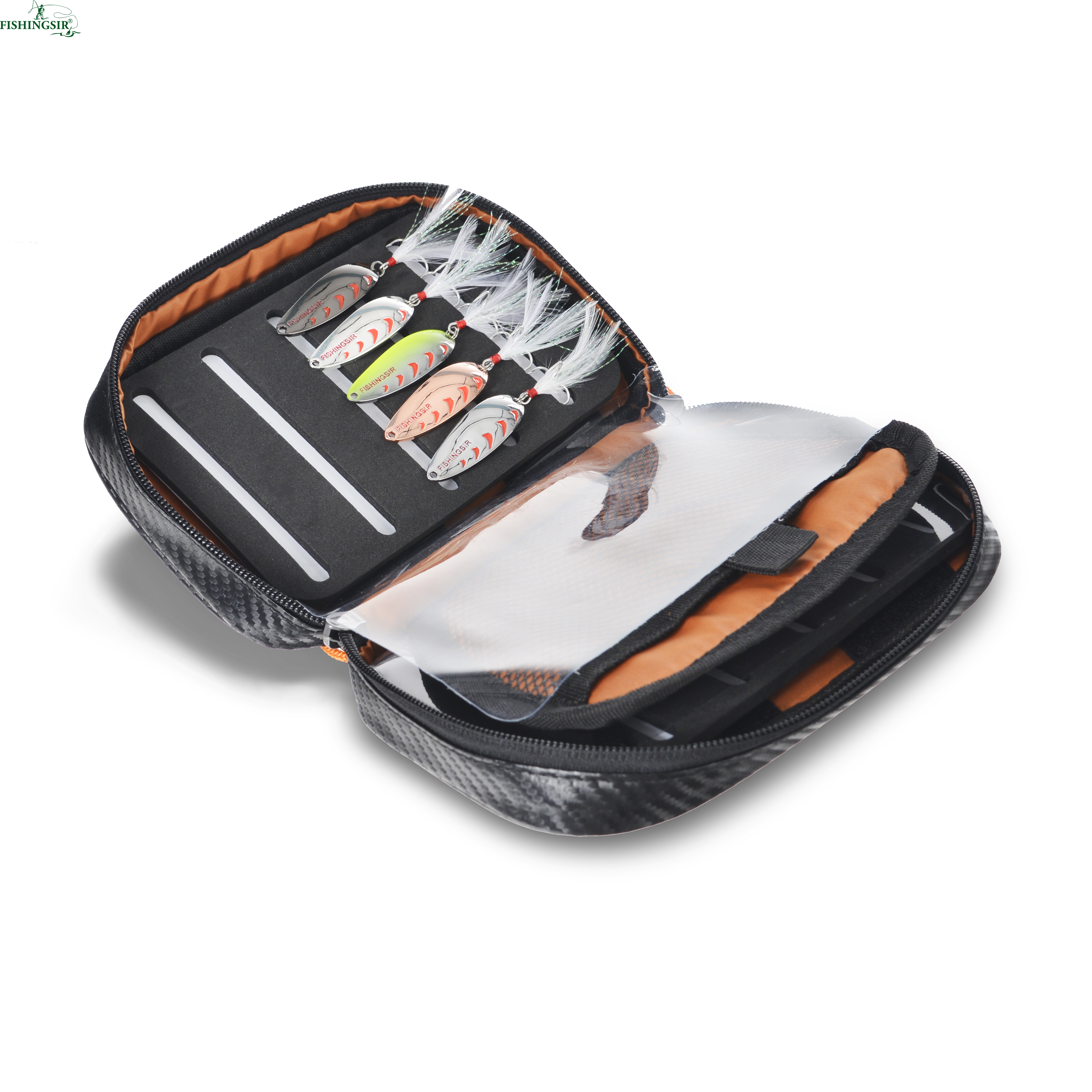 Fishing Lure Bait Storage Fishing Accessories <font><b>Box</b></font> Bag Container for Spoon lures Spinner Metal Wobblers Fishing Bait Bag Tackle