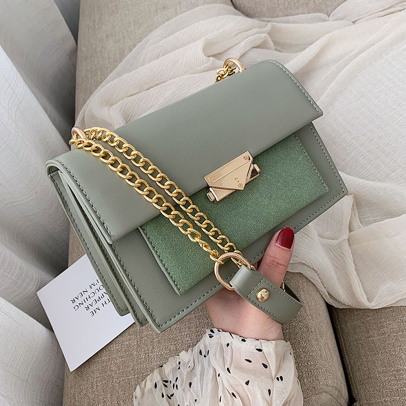 Scrub Leather Crossbody Bags For Women 2020 Small Messenger Shoulder Bag Lady Chain Handbags And Purses Travel Hand Bag
