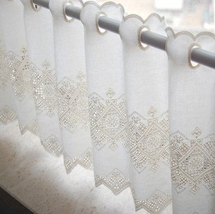 French Lace Curtains Filet Embroidery Curtain Panels Free Shipping Panel Plastic Polepanel Track Aliexpress