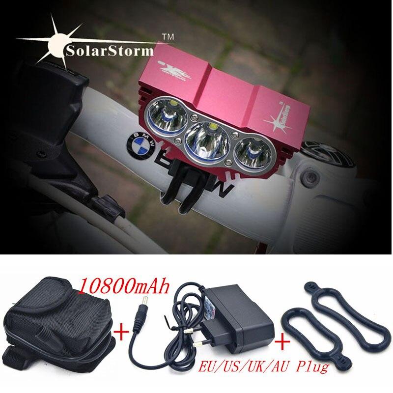 Цена за SolarStorm X3 3 U2 СВЕТОДИОДНЫЕ Велосипед Свет 6000LM Фара Вспышка света Лампы для Велосипеда + 10800 мАч Аккумулятор + зарядное устройство