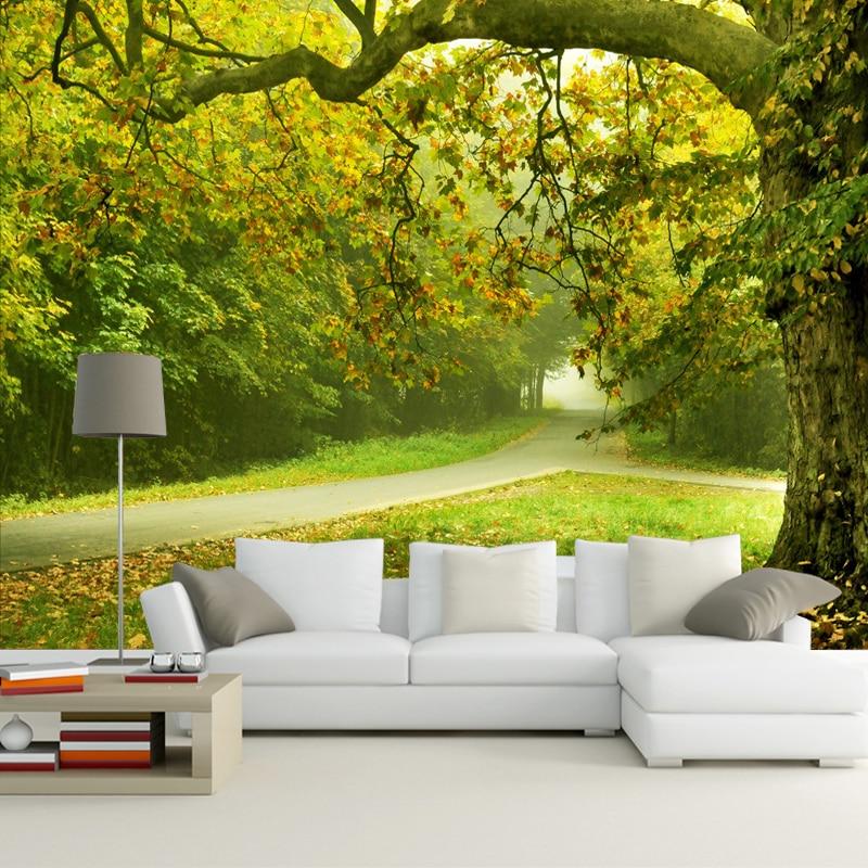 Custom Modern 3d Simple 3D Stereo Mural Nature Wallpaper ...