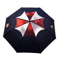 Biohazard men/male sunny and rainy fresh combined classic folding umbrella and 4 new styles flower shape umbrella hot sale