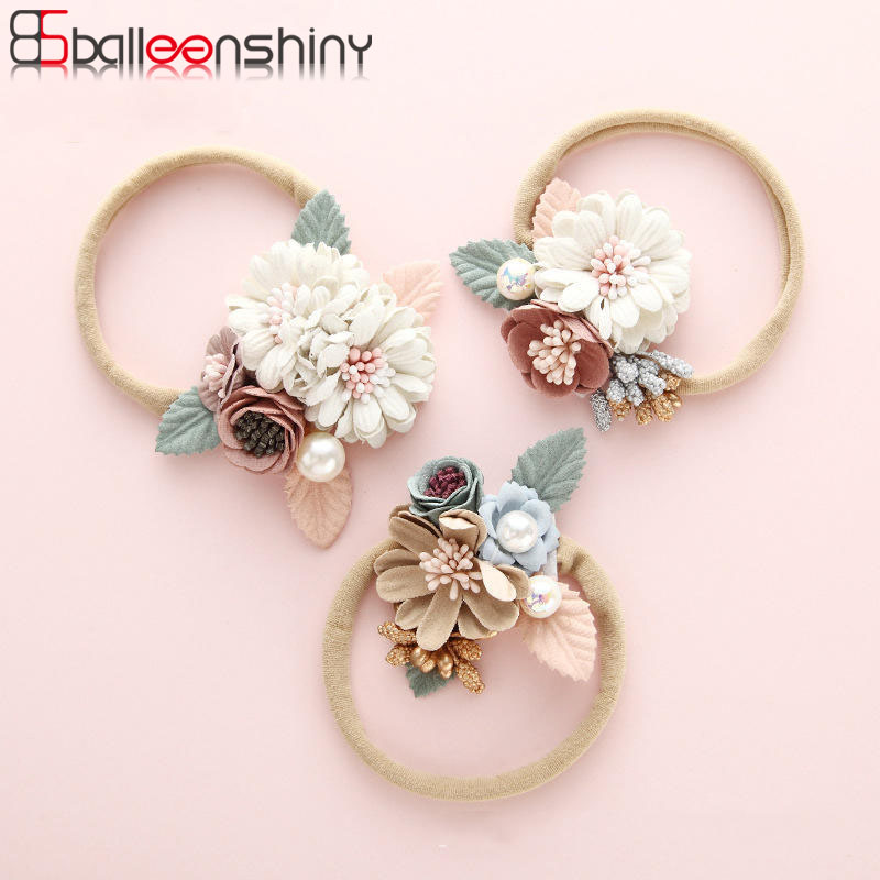 BalleenShiny Infant Baby Headband Fashion Handmade Children's Flower Hair Accessories Newborn Photography Props Kids Girls Gifts
