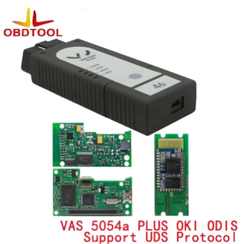 OBDTOOL VAS 5054A Plus ODIS V4.3.3 Full Chip OKI OBD2 Diagnostic Tool vas 5054 Plus Bluetooth Support UDS Protocol 5pcs lot vas 5054 bluetooth odis3 0 3 version support uds protocol vas5054 oki chip diagnostic tool vas5054a vas 5054a