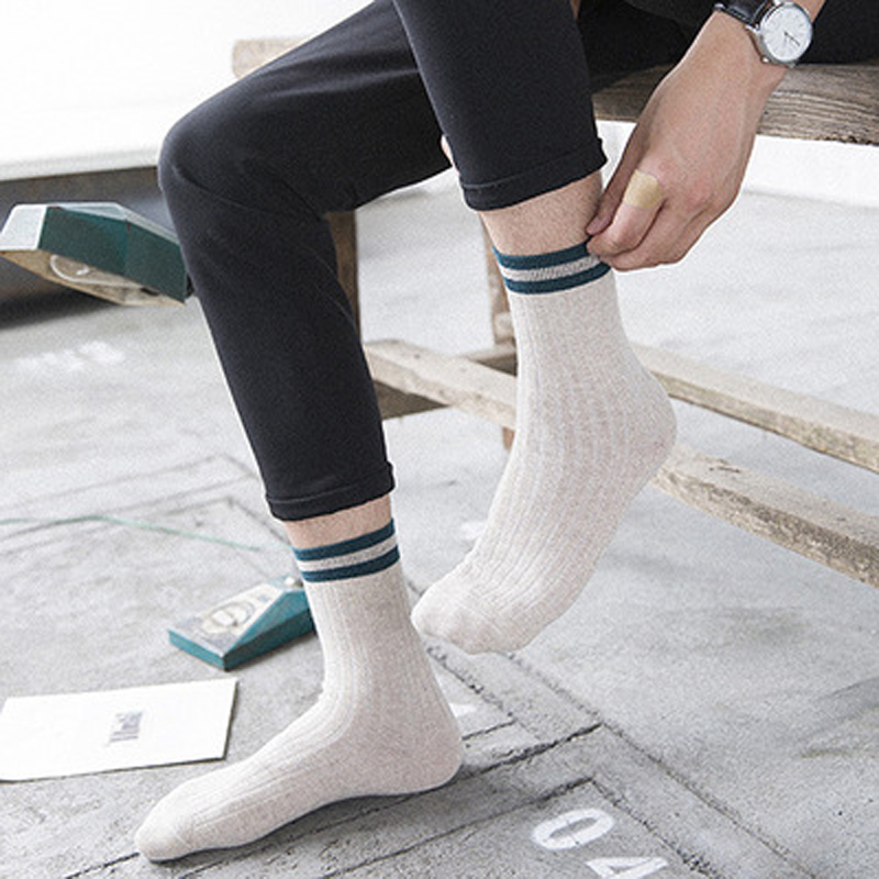 1Pair Funny Men Socks Calcetines Hip Hop Socks For Men Male Colorful Striped Socks Art Chaussettes Homme Calcetines Hombre