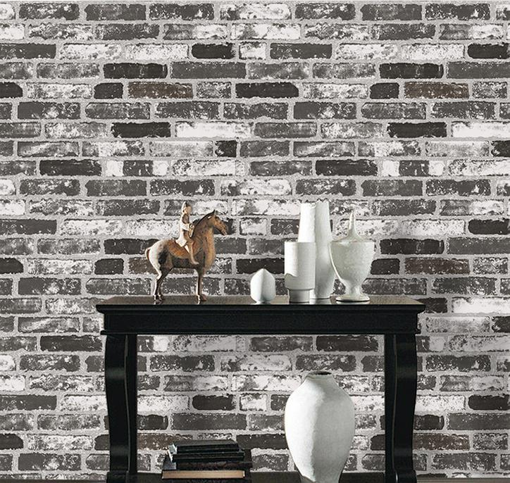 3D Dark Gray White Red Mixed Old Wall Wallpapers Brick Wall papel de parede Decor PVC Stone Background мозаика l antic colonial frame brick dark 10x20 28 5x31 1