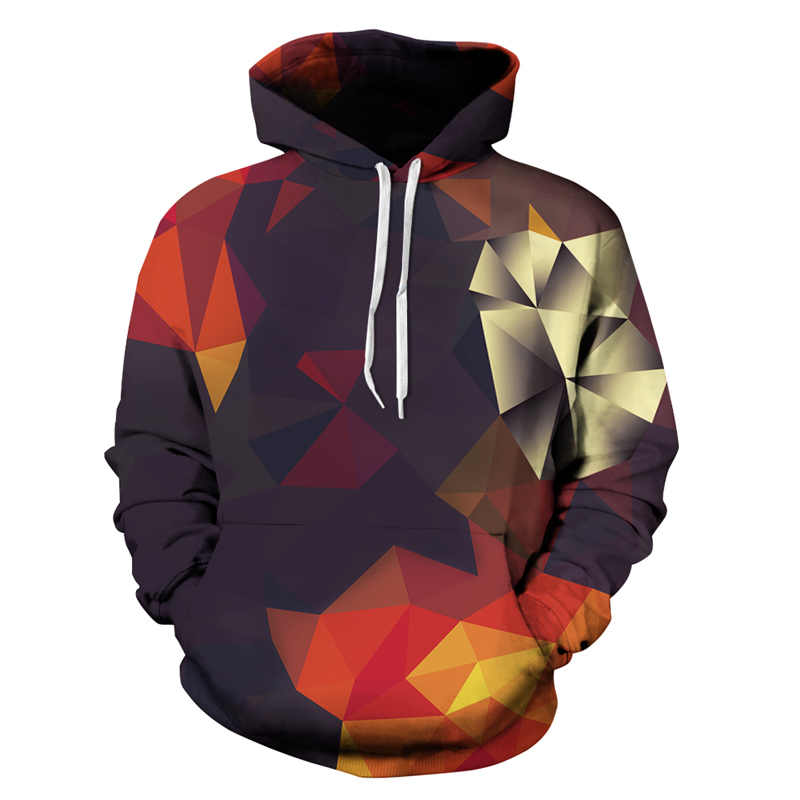 Vendita calda Hip Hop 3D Hoodies di Modo degli uomini di Stampa Felpa A Maniche Lunghe Con Cappuccio Pullover Tops Con Tasche Stile Freddo abbigliamento