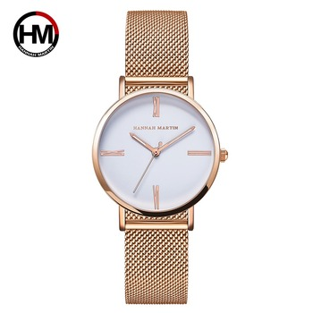 New Design Style Simple Japan Quartz Movement Stainless Steel Waterproof Simple Dress Ladies Luxury brand Wrist Watch for Women