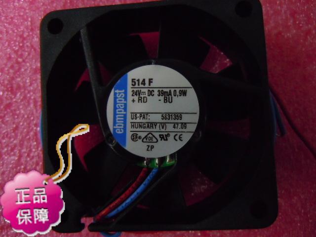 New Original ebmpapst 514F 5015 DC24V 0.39A 1W precision machine tools cooling radiator fan new original german ebmpapst 4650n 12038 12cm ac220v temperature cooling fan