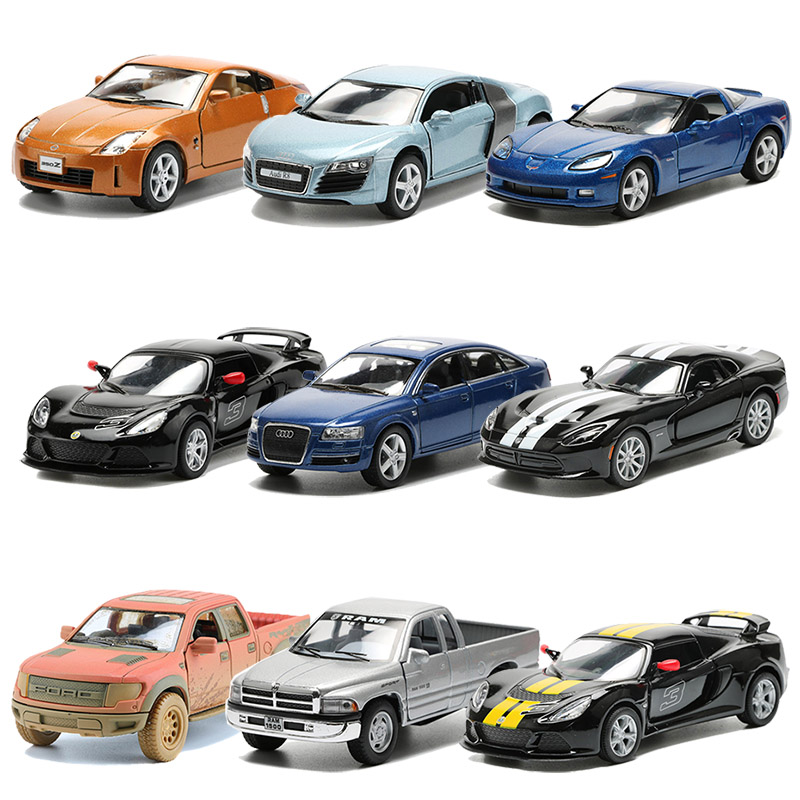 Alloy Car Toy Pull Back Racing Cars Model Pickup Truck Collection Toys For Boys Christmas Gift