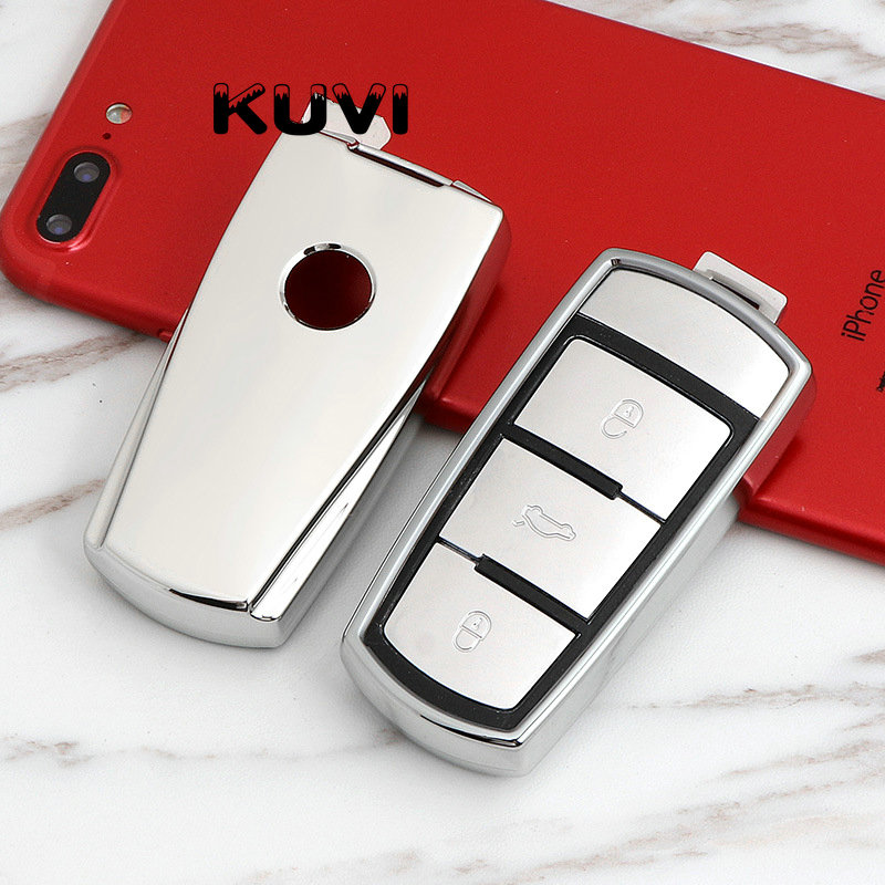 TPU Car Key Cover Case For Volkswagen VW CC Passat B6 B7 Passat 3C CC Maogotan R36B5B7L Auto Key Cover Car Styling Accessories