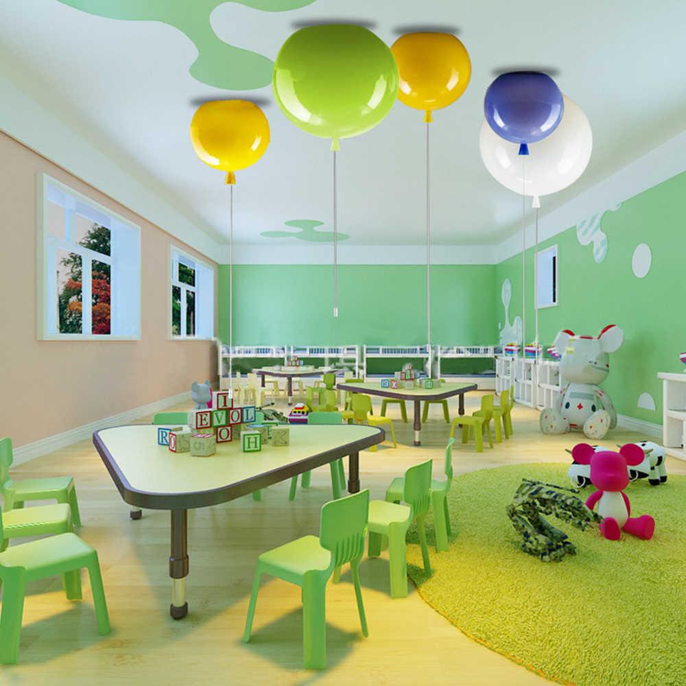 люстра детская chandeliers in the nursery светильник воздушный шар люстра в детскую Подвеска в виде шара свет лампа для детской комнаты Диаметр 25 см 6 цветов акриловый приспособление дом