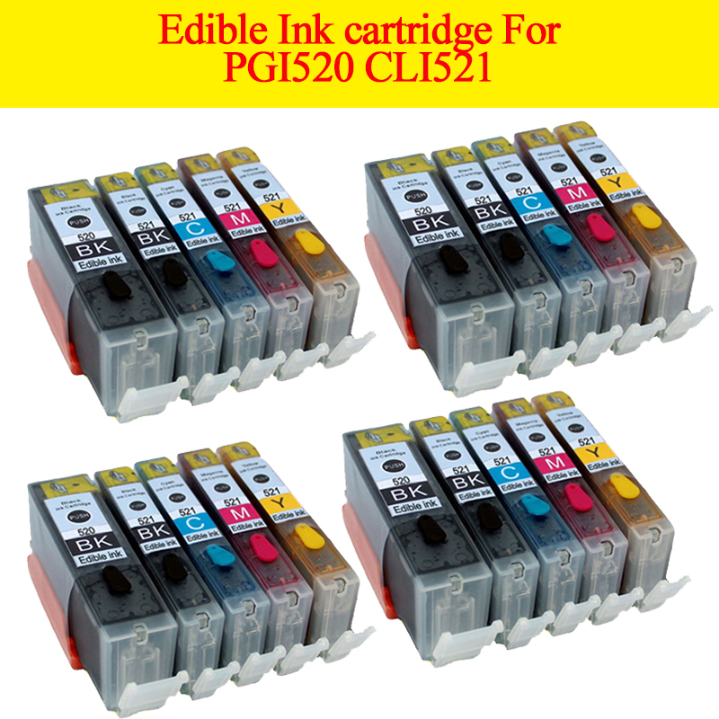 20pcs PGI 520 CLI521 pgi520 cli521 edible <font><b>ink</b></font> <font><b>cartridge</b></font> For <font><b>canon</b></font> Pixma <font><b>MP630</b></font> MP640 MP980 MP990 MX860 MX870 printer image