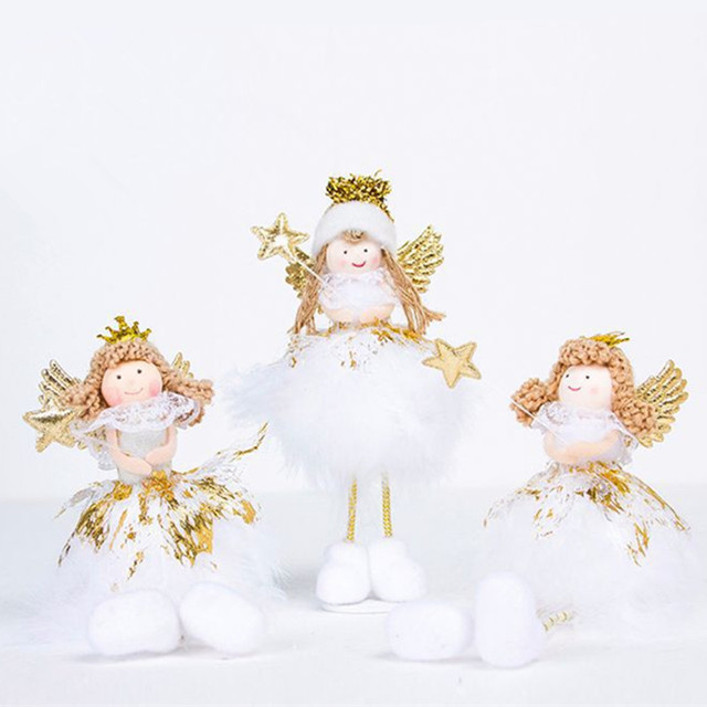 merry christmas angel doll toy ornament diy crafts christmas tree decorations for home xmas noel new