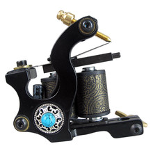 New Tattoo Machine Handmade Taty Coil Gun 10 Wraps Supplies MZZA01-1