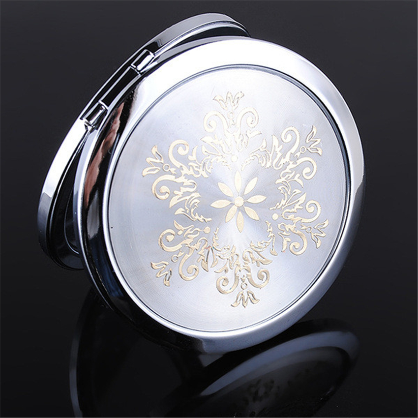 New Pocket Purse Handbag Travel Compact Folding Makeup Girls Ladies Gift Portable Cosmetic Mirror Metal Folding Make-up Mirror