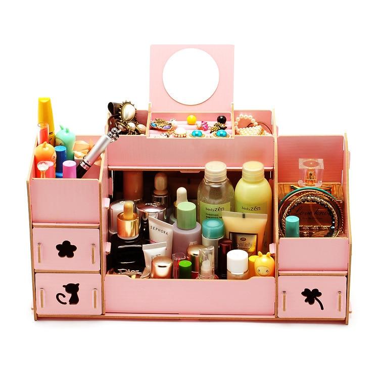 New Wood Makeup Organizer Diy Drawer Organizer for Cosmetics ...
