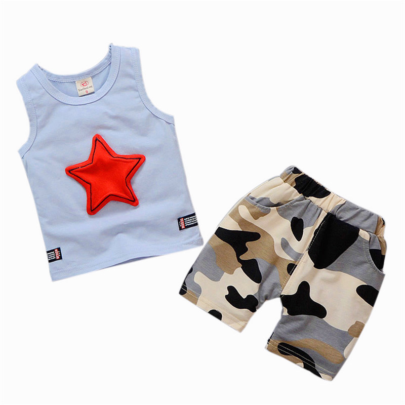 2018 ARLONEET Toddler Kids Baby Boys Outfits Sleeveless Vest Tops+Camouflage Pants Clothes Set Toddler Girls Summer Cothing