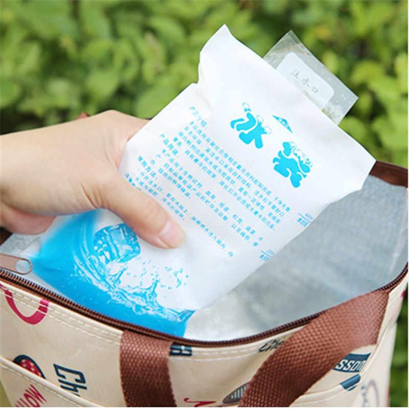 1 pc Saco Do Refrigerador Térmico Isolado de Plástico Reutilizável Seco Frio Bloco De Gelo para o vinho latas caixa de comida do almoço De Armazenamento médica
