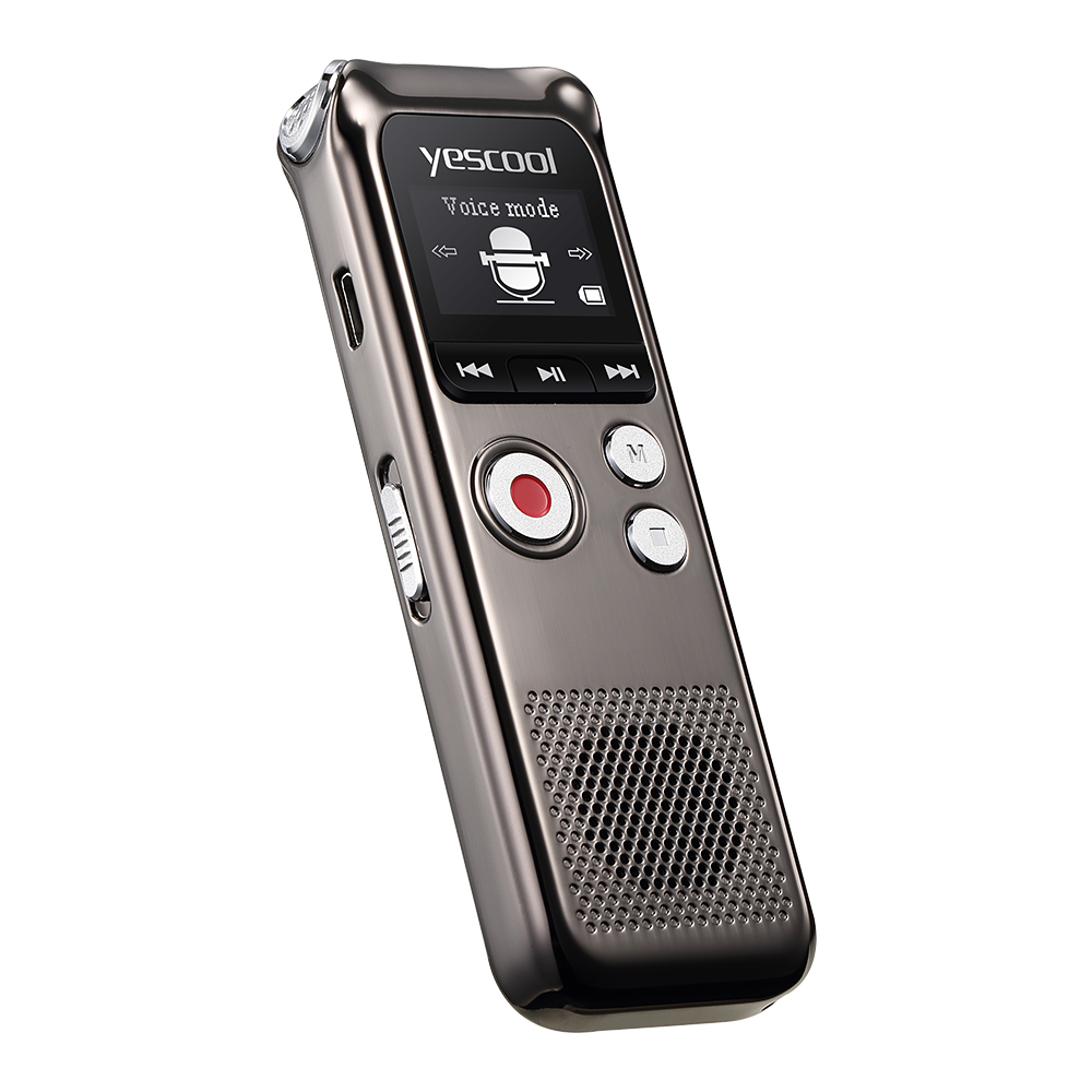 Yescool A60 8 GB enregistreur vocal Original 2160 heures enregistrement Dictaphone enregistrement Audio numérique caché avec lecteur MP3 WAV - 3