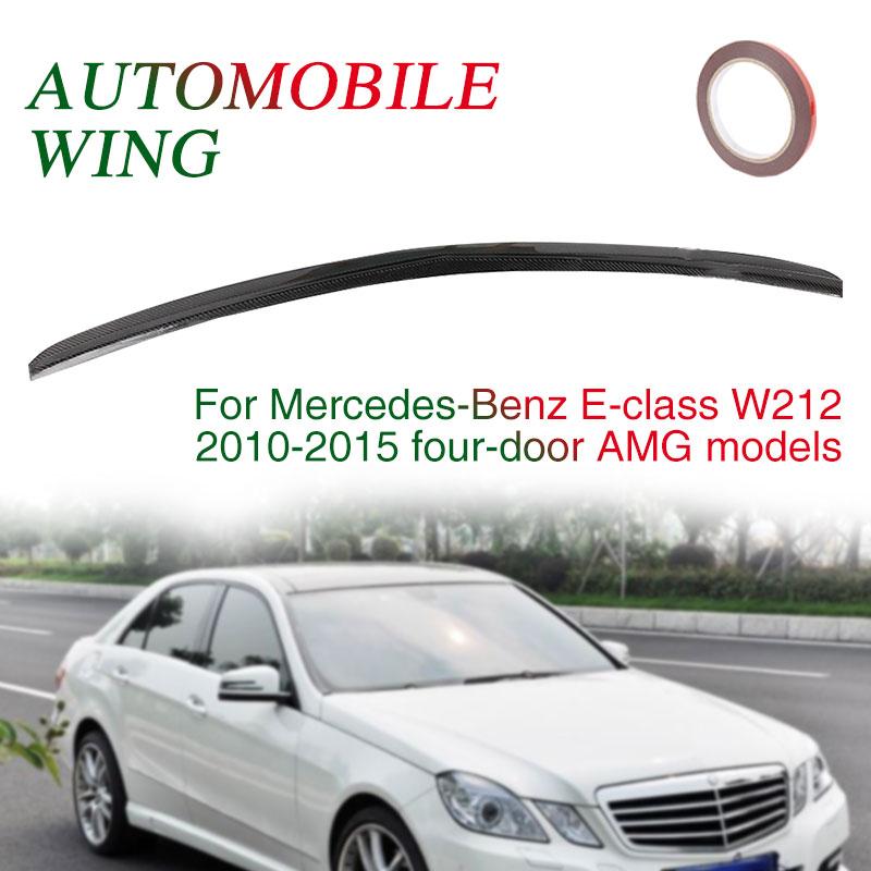 Автомобильный спойлер 4-дверный черный багажник заднее крыло задний спойлер крыло 4D спойлер для Mercedes Benz E Class W212