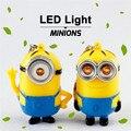 """Venda quente Despicable Me Minion Chaveiro LED Falando """"eu Te Amo"""" novidade Presente para Amantes Luz Lanterna Chaveiro com Som"""