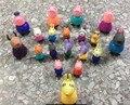 19 unids Peppa Pig Amigos Juguetes PVC Figuras de Acción Suzy Emily Danny Rebacca Familiar Cerdo de Juguete Juguetes de Bebé Kid Regalo Brinque