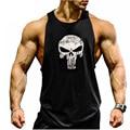 2017 Nuevas Llegadas Hombres de Los gimnasios Sin Mangas Culturismo Sin Mangas Marca Camisas Ocasionales de los hombres venta caliente gimnasios chaleco tank top 2XL