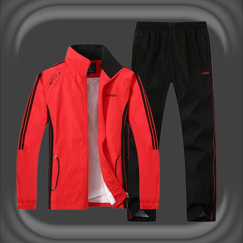 Autumn Brand Tracksuit Men Two Piece Sets Casual Track Suit Sportswear Mens Sweat Suits 2019 Plus Size 4XL 5XL Jacket Pants Sets