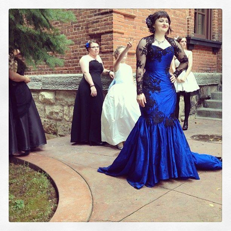 Popular Wedding Dresses Black and Blue-Buy Cheap Wedding Dresses ...