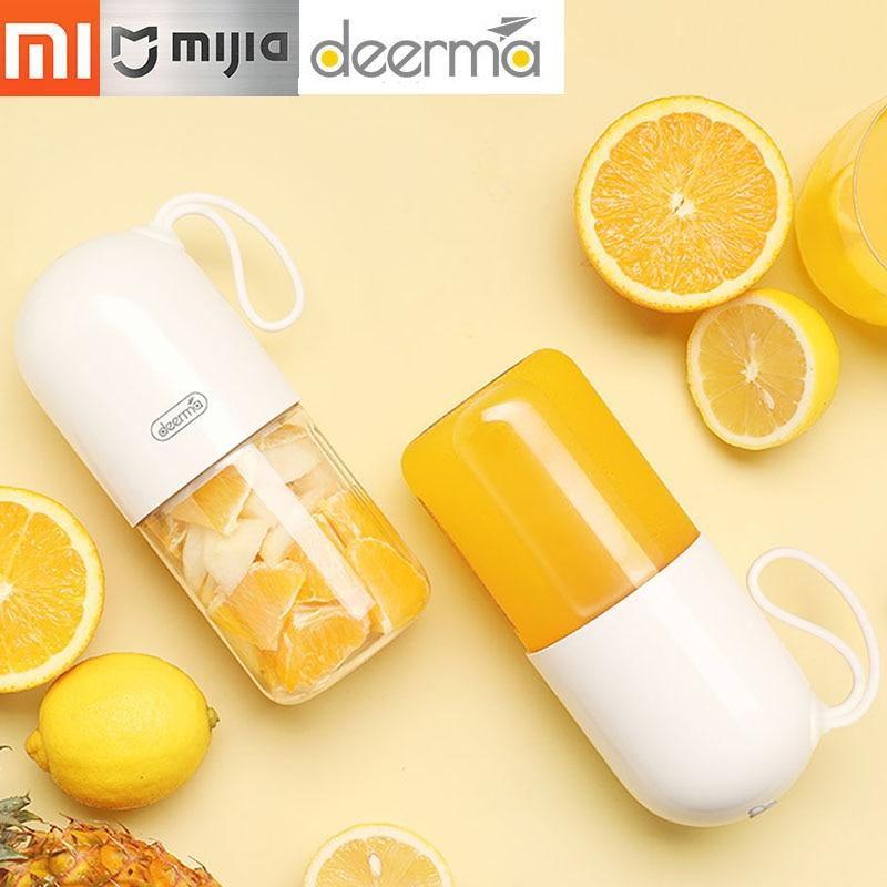 Xiaomi Deerma Juicer 300ml Portable Electric Blender Multipurpose Wireless Mini USB Rechargable Juice Cup Fruit Mixer for Travel