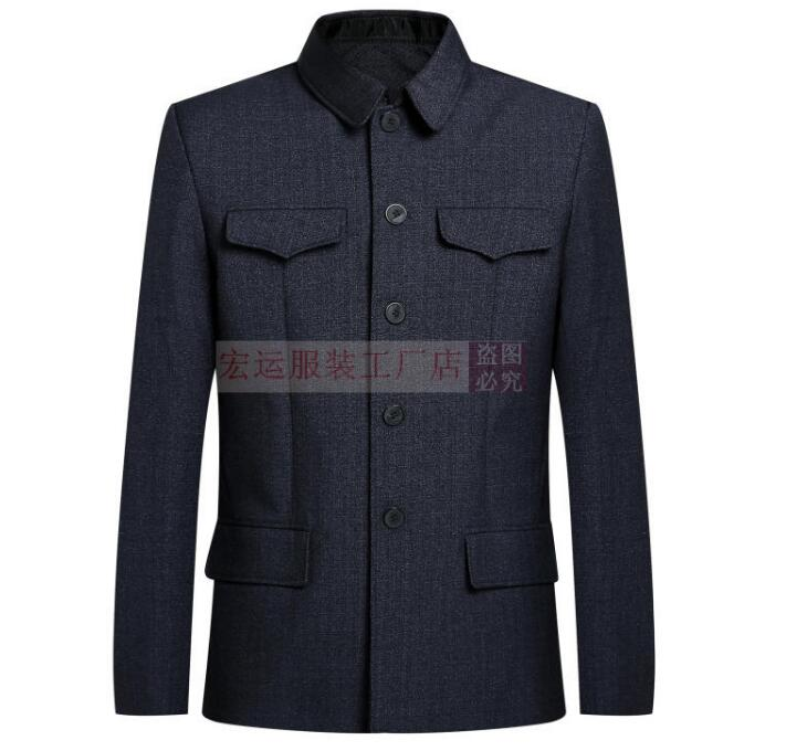 Zhongshan Suit National Costume Elderly Clothes Chinese Jacket Men Spring