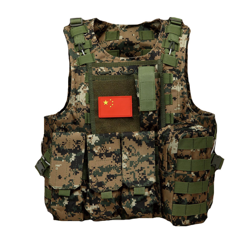 Outdoor CS Tactical Vest Hunting Vest Men's Military Army Molle Airsoft Vest Body Armor Swat Combat Painball Black Vest for Men