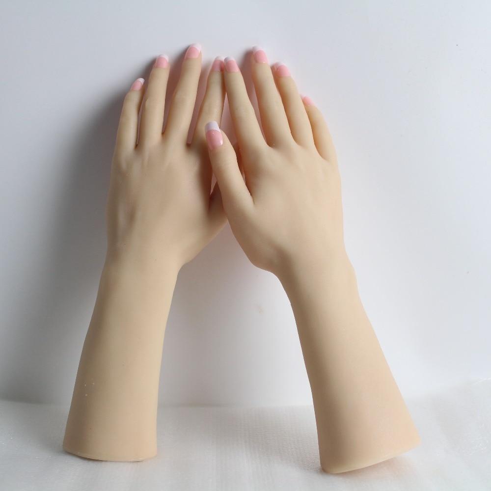 Realistico Femminile Molle Del Silicone Flessibile Mannequin Mano Anello Braccialetto E Guanto Display-in Manichini da Casa e giardino su  Gruppo 2