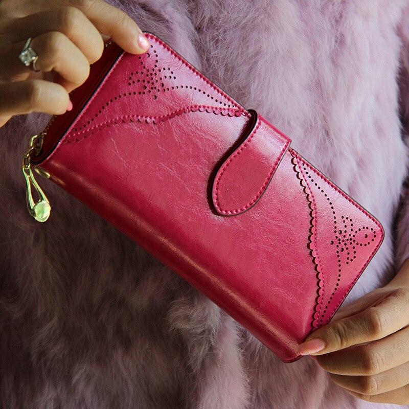 de couro genuíno bolsas hasp Composição : Leather