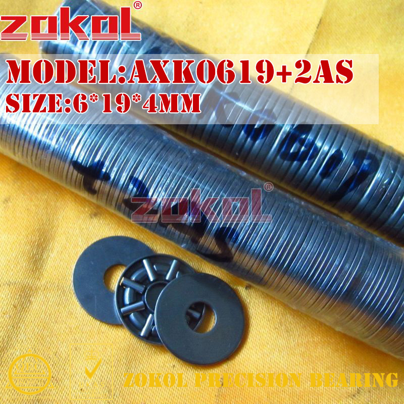 ZOKOL AXK0414 AXK0515 AXK0619 TN 2AS Bearing AXK0619+2AS Needle Roller Bearing 4*14*4mm 5*15*4mm 6*19*4mm