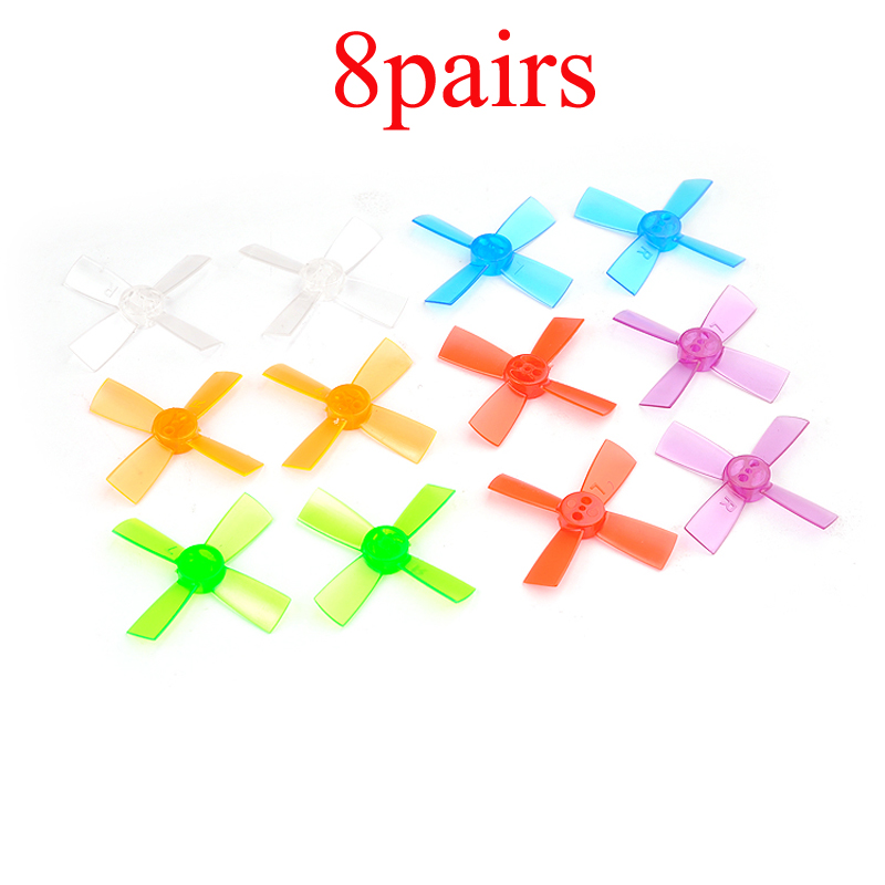 8Pairs PC 1735 1.7inch Props 43.2mm Propeller 4 Blades Center Hole Distance 5mm Paddle for 1.5mm Shaft 1102 <font><b>1103</b></font> <font><b>Motors</b></font> RC FPV image