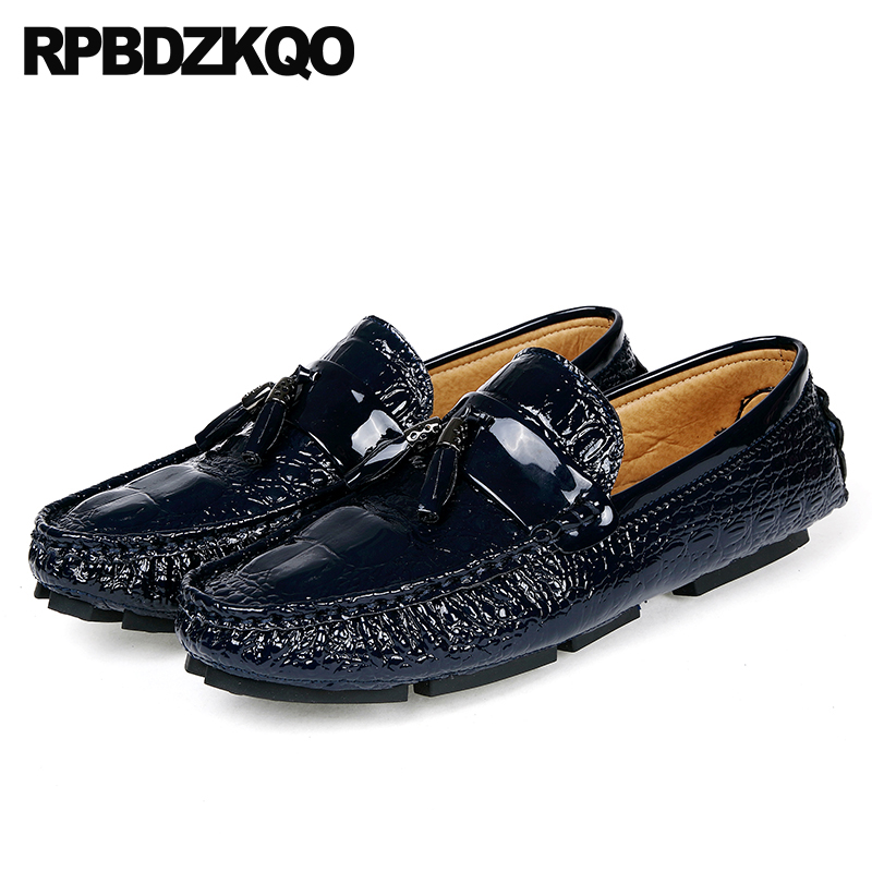Men's Casual Shoes Fake Snake Skin Print Alligator Leather Shoes Men Loafers Slip On Pointed Toe Men Shoes Casual Slip On 17d50