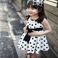 Wedding Dress for Girls Cute Polka Dot Sleeveless Princess Dresses for Party and Wedding Children's Clothing vestidos nina
