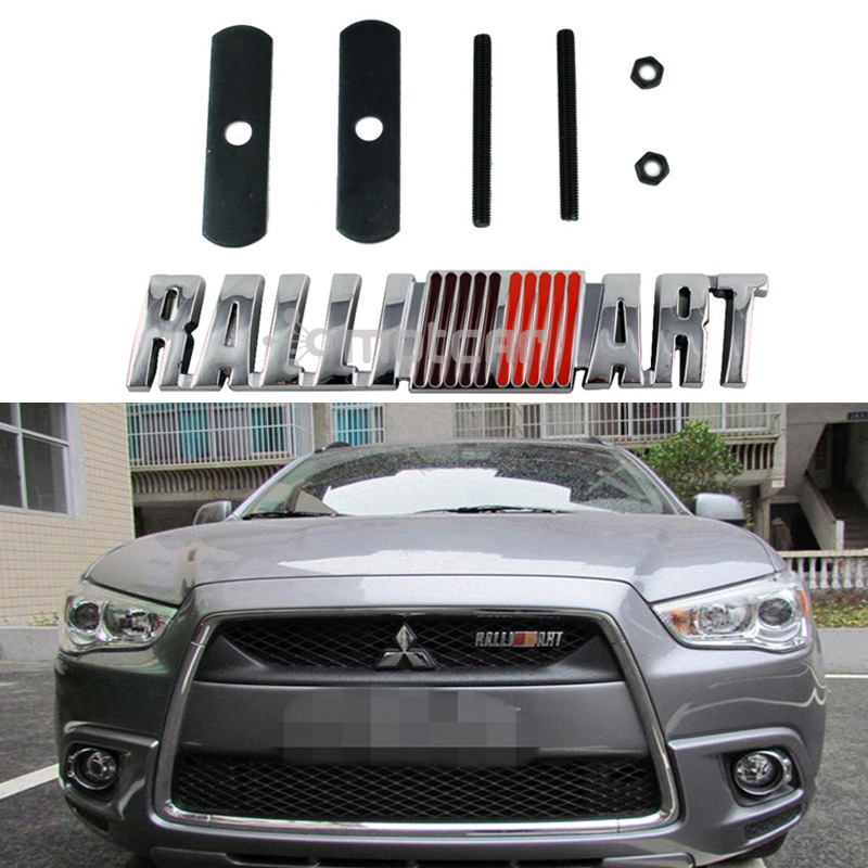 Car Styling 3D Metal Ralli Art Logo Front Hood Grille Badge Grille Emblem Auto Sticker Auto Car Decal Universal Fit For Auto Car m motorsport m power car front hood grille emblem led light for bmw universal