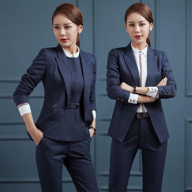 98d4373ec145 Nuevo Negocio Trajes de Trabajo Profesional Con 3 Unidades Chaquetas +  pantalones + Chaleco Para Damas