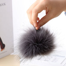1PC New Hot Unisex Women Men Faux Raccoon Fake Fur Hair Ball Fluffy Pompom Hat Clothing Bag Shoes Cap Accessories Decoration(China)